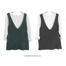 Long Sleeve & Top (verde)